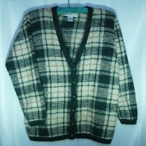DressBarn Plaid Cardigan